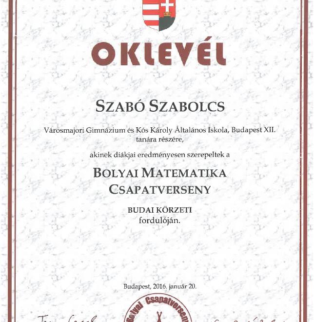 Oklevél_-_Bolyai_Matematika_Csapatverseny
